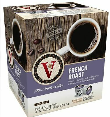 Victor Allen's Coffee K Cups, French Roast Single Serve Medium Roast, 200 (French Medium Roast Coffee)