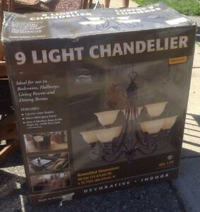 NEW in Box Elegant Chandelier - 9 Light