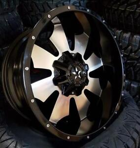 20x10 BLACK MACHINED WHEELS! awesome HUGE LIP! Ford-Excursion-F-250-Harley Davidson-F-350 - 866