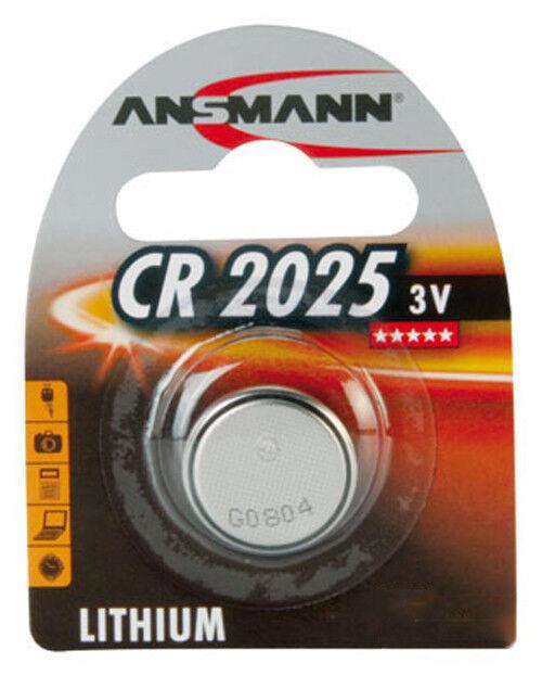 2 x Ansmann Lithium CR2025 3V Button cell pack