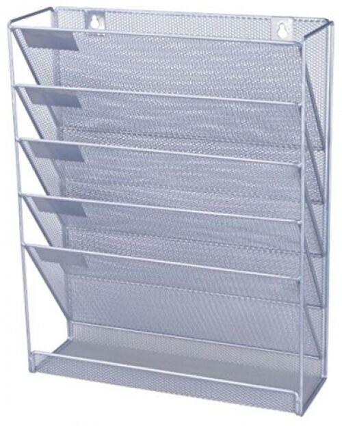 Office File Organizer Shelf Wall Mounted Document Folders Holder A4 Paper Rack