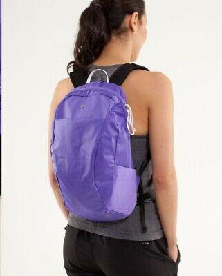 EUC Lululemon RUN FROM WORK Power Purple BACKPACK hiking everyday Gym bag