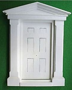 White plastic large georgian door 12th scale ideal for for White fairy door