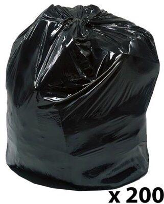 200 x Light Duty Refuse Sack Bin Liner Rubbish Bag H86cm x W74cm 5364612, M5KC#