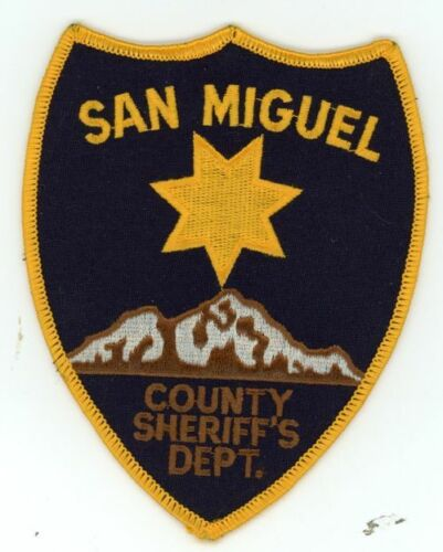 COLORADO CO SAN MIGUEL COUNTY SHERIFF NEW PATCH POLICE