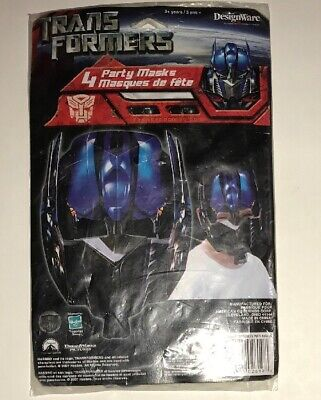Transformers 4 Pack Party Masks Optimus Prime New - Optimus Prime Maske