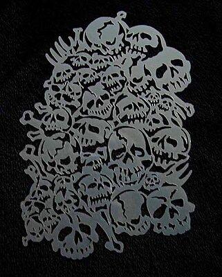 Airbrush Schablone A4 004 Schädelschablone extrem