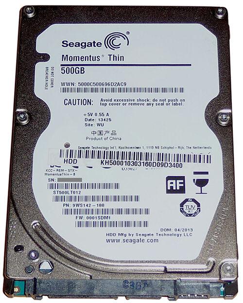 Seagate Momentus 500 GB Thin Hard Drive