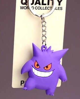 Pokemon Gengar Rubber Keychain 2 Inches US Seller