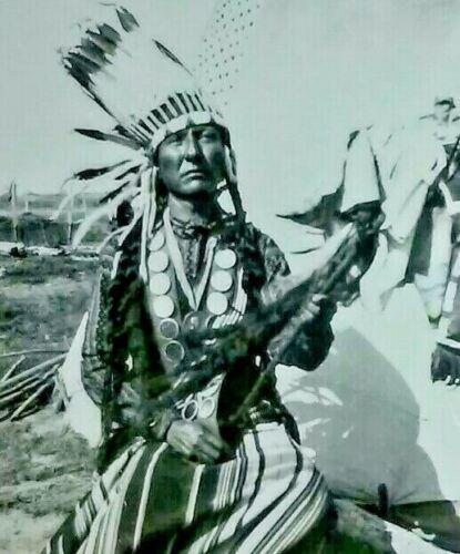 THOMAS BEAR ROBE CHIEF CHEYENNE INDIAN 1945 ORIGINAL BRUCE HAYNES PHOTO