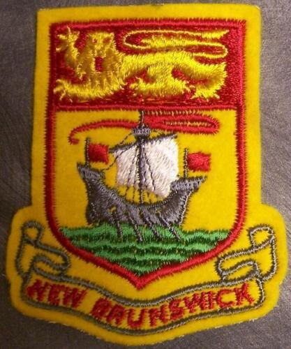 Embroidered International Patch Provincial flag New Brunswick Canada NEW