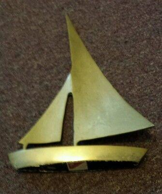 Vnt Modern Solid Brass Sculpture, Sail Boat, Sail, Decorative Crafts inc (Decor Craft Inc)