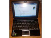 "Asus Eee PC 1000H 10"" Intel Atom 1GB Ram 120 GB HDD Webcam Windows 7 WIFI Glossy"