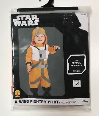 STAR WARS X-Wing Fighter Pilot Costume Toddler Size 2T-3T 2-3 Years