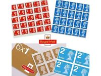 10% Discount Second Class Stamps x 1000 Brand NEW