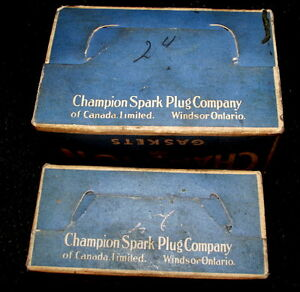 Two Champion spark plug gasket boxes $5.00 London Ontario image 4