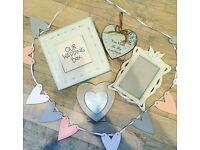Wedding bundle ( frame, wedding box, heart buntin etc)