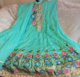 Dress semi - stitched