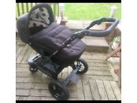 OBaby ZeZu dotty pram/pushchair
