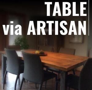 Tables DIRECTEMENT de L'Artisan - La MOITIÉ DU PRIX DES MAGASINS -OSEZ COMPARER !