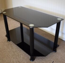 Glass TV stand - Like New!