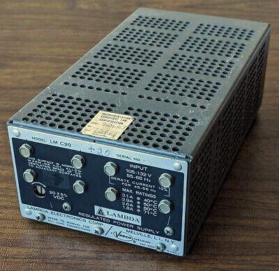 Lambda Lm C20 Regulated Power Supply 20vdc 3a Adjustable 15-29vdc 24 26 28