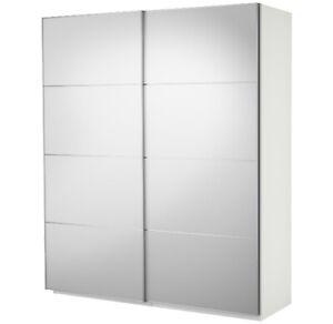 IKEA PAX Wardrobe with sliding doors (white mirror class)