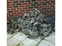 Rubble concrete and stones