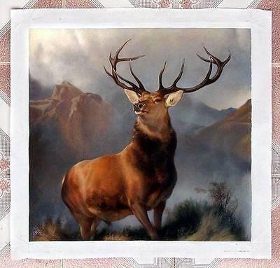 Ölbilder Ölgemälde Landseer: Monarch of the Glen v 50x50cm
