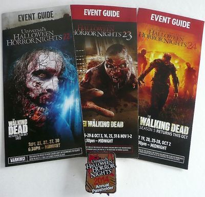 Halloween Horror Nights Annual Pass (2014 WALKING DEAD ANNUAL PASS HOLDERS PIN HHN UNIVERSAL HALLOWEEN HORROR)