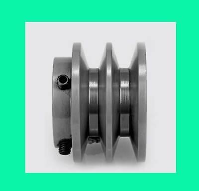 2 Groove Sheave Pulley Standard V-belt 2bk25-34 Od2.5 Id 34 2bk2534