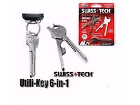 6 in 1 Utili-Key Mini Multitool Keyring
