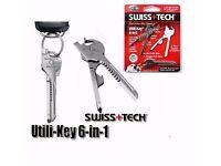 6 in 1 Utili-Key Mini Multitool Keyring