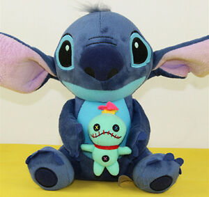 1x Disney Lilo Stitch with SCRUMP 24cm Soft  Plush Doll Kid Toy Xmas Gift