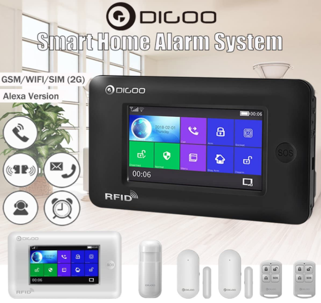 Amazon Alexa Alarm System Smart Home Security Wifi Door & Mo