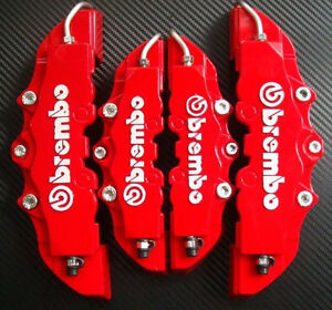 4pcs Brembo 3D Disc Brake Caliper Covers Front Rear Set For Universal Car Truck