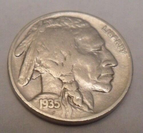 "1935 D INDIAN HEAD ""BUFFALO"" NICKEL  *GOOD OR BETTER*   **FREE SHIPPING**"