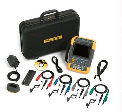Fluke 190-104 Scopemeter Scope Portable Oscilloscope 100mhz 1.25 Gss 4 Ch Chann