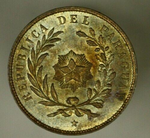 Paraguay Centesimo 1870 Choice Brown UNC Mint Luster   A825