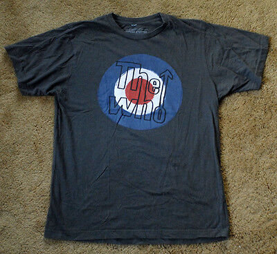THE WHO gray t shirt 100% cotton short sleeve