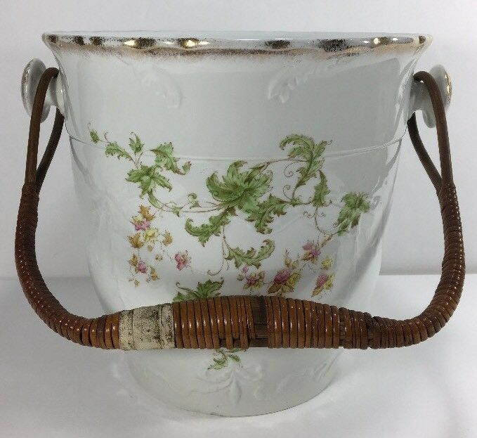 Antique John Maddock Sons Chamber Bucket w/ Handle Slop Pot England 1896 RARE!!