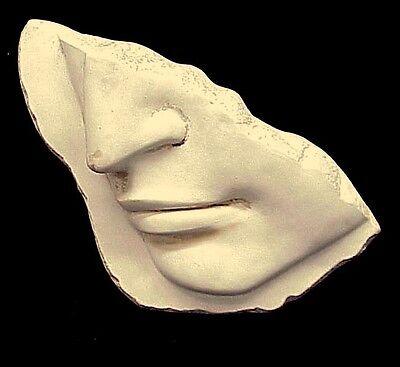 Greek Roman Art Michelangelo's David Face Fragment Wall Sculpture Antique Finish