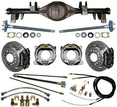 CURRIE 65-70 IMPALA REAR END & WILWOOD DISC BRAKES,LINES,E-BRAKE CABLES,AXLES,++