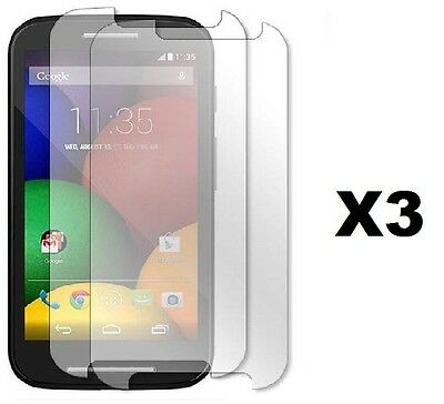6 PCS CLEAR SCREEN PROTECTOR ACCESSORY BUNDLE KIT FOR CRICKET MOTOROLA MOTO E Bundle Clear Screen Protector