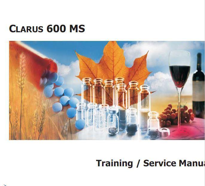 Perkin Elmer  Clarus 600 Mass Spec.   Service Training Package