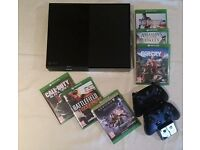 XBox One Console. Venom Charging Unit. 2 controllers. 6 Games