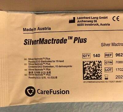 Carefusion 9623-814p Silver Mactrode Plus Resting Ecg Electrodes - Pack Of 140