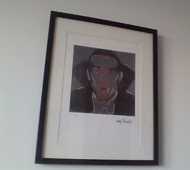 ANDY WARHOL DRACULA PLATE SIGNED LIMITED EDITION 3827/5000 MATTED LITHOGRAPH