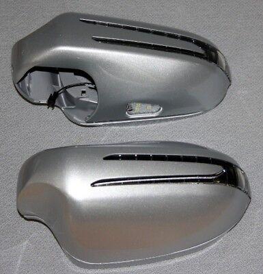 Spiegelkappen + LED Blinker FÜR Mercedes  W216 BIS 010 SILBER 775