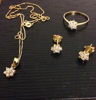 18karat gold jewelry set